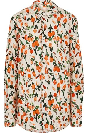 Marni Women Long sleeves - Floral cotton poplin shirt