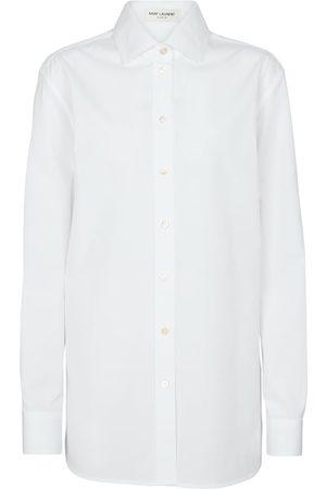 Saint Laurent Women Long sleeves - Oversized cotton poplin shirt