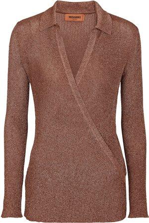 Missoni Metallic knit wrap top