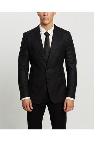 Farage Deconstructed Wool Jacket - Blazers (Charcoal) Deconstructed Wool Jacket
