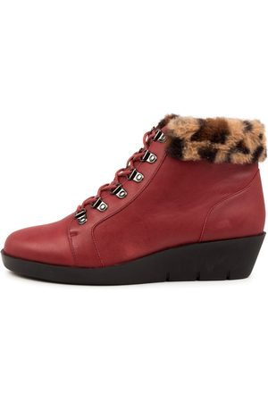 Ziera Beau W Zr Dk Ocelot Boots Womens Shoes Casual Ankle Boots