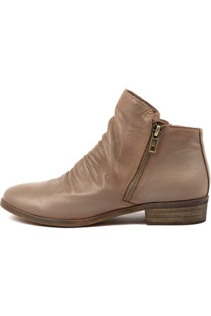 Django & Juliette Split New Taupe Boots Womens Shoes Casual Ankle Boots