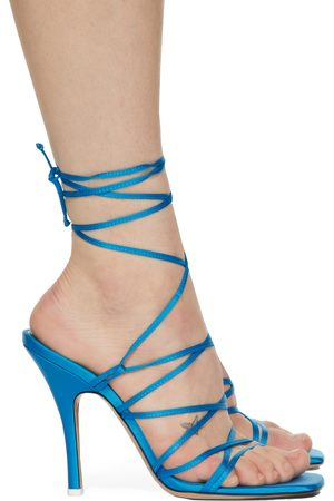 The Attico Satin Lace-Up Heeled Sandals