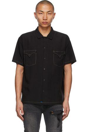 Double Rainbouu Contrast West Coast Short Sleeve Shirt