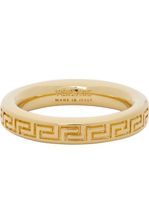 Versace Thin Engraved Greek Key Ring