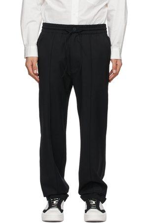 Men Stretch Pants - Y-3 Stretch Wool Trousers