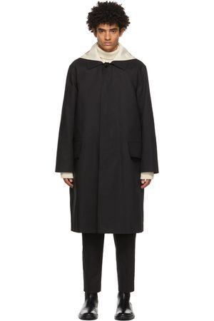 Men Trench Coats - Jil Sander Detachable Collar Sport Trench Coat