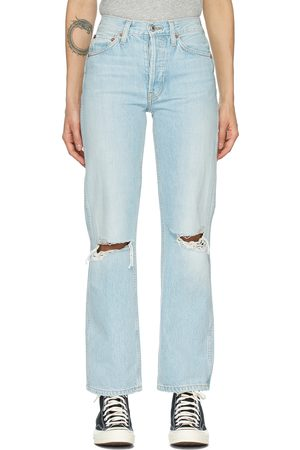 Re/Done Distressed 90s High Rise Loose Jeans