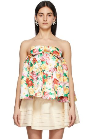 Women Strapless Tops - Shushu/Tong Multicolor Floral Strapless Top