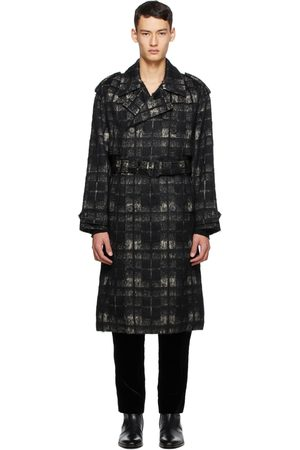 Men Trench Coats - Saint Laurent & Alpaca Trench Coat