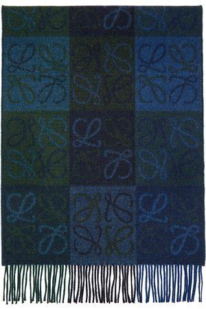 Loewe Navy & Wool Anagram Scarf