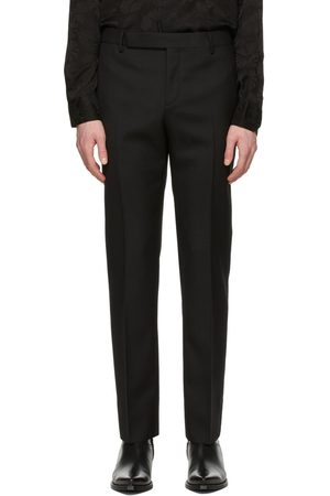 Saint Laurent Wool Gabardine Tailored Trousers