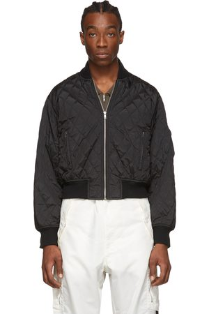 Random Identities Quilted Bomber Jacket