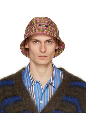 MSGM & Check Print Cloche Bucket Hat