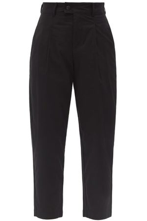 Bogner Cory High-rise Pleated Cotton-blend Golf Trousers - Womens