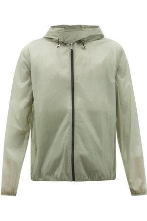 5 MONCLER CRAIG GREEN Frog-print Translucent-shell Hooded Jacket - Mens