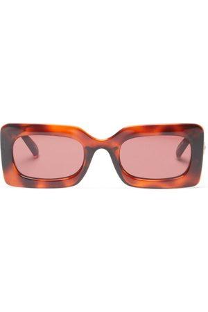 Le Specs Oh Damn! Rectangular Sunglasses - Womens - Tortoiseshell