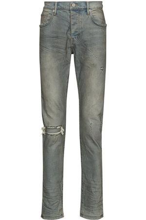 Purple Brand Men Slim - Distressed-look mid-rise jeans