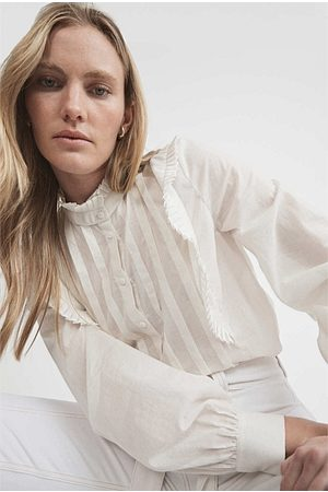 WITCHERY Women Blouses - Pleated Frill Blouse