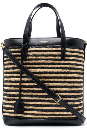 Saint Laurent Women Tote Bags - Raffia panelled tote bag