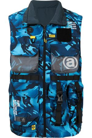 AAPE BY A BATHING APE Camouflage-print zip-up utility vest