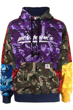 AAPE BY A BATHING APE Colour-block camouflage-print hoodie