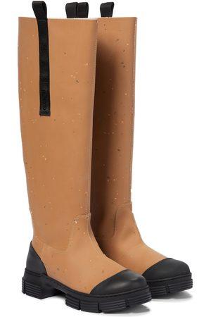 Ganni Rubber knee-high boots