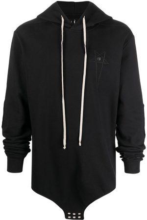Rick Owens Men Hoodies - Embroidered-logo hoodie