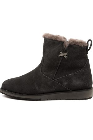 Emu Women Ankle Boots - Beach Mini Dark Boots Womens Shoes Comfort Ankle Boots