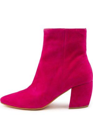 Mollini Uhappi Mo Fuchsia Boots Womens Shoes Casual Ankle Boots