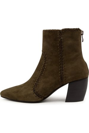 Mollini Urche Mo Olive Boots Womens Shoes Casual Ankle Boots
