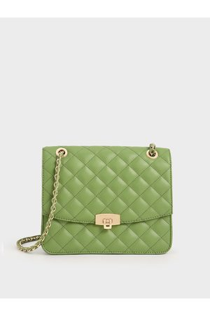 CHARLES & KEITH Women Clutches - Quilted Chain Strap Clutch
