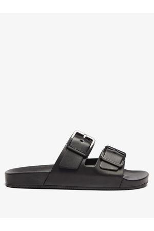 Balenciaga Mallorca Leather Slides - Mens