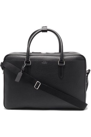 SMYTHSON Ludlow Grained-leather Holdall - Mens