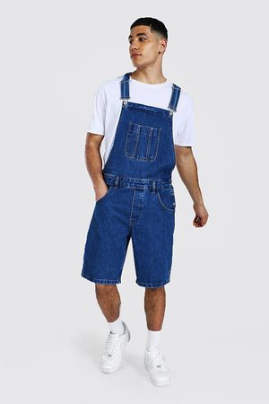 Boohoo Mens Mid Relaxed Fit Short Dungaree
