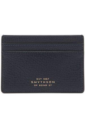 SMYTHSON Ludlow Grained-leather Cardholder - Mens - Navy
