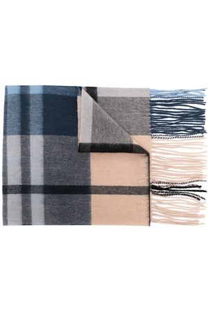 MULBERRY Small-check lambswool scarf 30 x 200