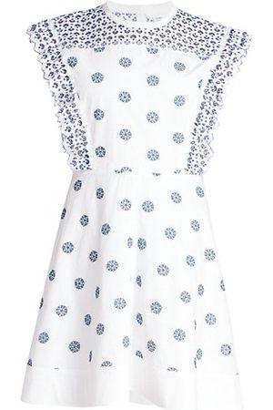 Chloé Women Casual Dresses - Flower Dot Broderie Anglaise Cotton Dress