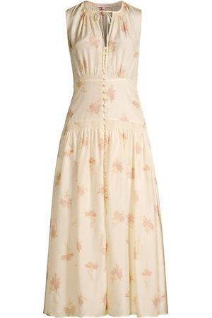 REBECCA TAYLOR Nora Floral Silk Sleeveless A-Line Dress