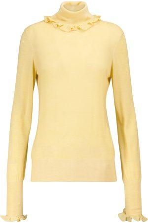 Victoria Beckham Ruffled turtleneck sweater