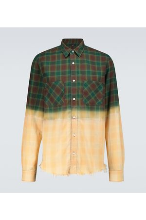AMIRI Men Casual - Bleached flannel shirt