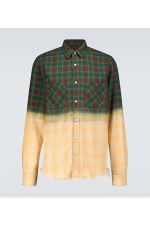 AMIRI Men Casual - Bleached flannel shirt