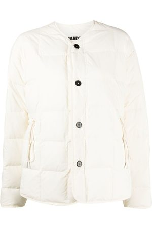Jil Sander Women Winter Jackets - Quilted buttoned jacket