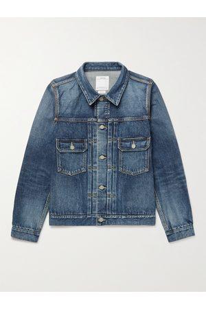 VISVIM 101 Slim-Fit Distressed Denim Jacket