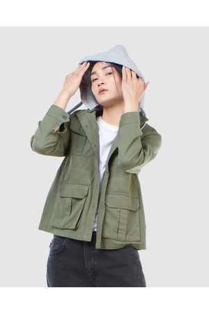Superdry Core Military Patched Hood - Shirts & Polos (Army ) Core Military Patched Hood