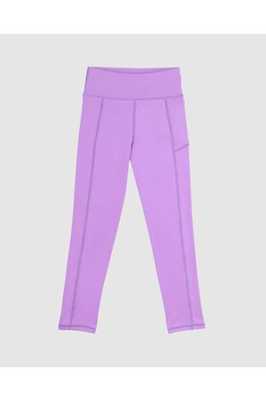 School Active Sports Girls Sports Leggings - SAS Active Fearless Flex Long Leggings - Full Tights (Violet) SAS Active Fearless-Flex Long Leggings
