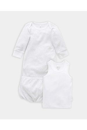 Purebaby Sleepsuit Bundle Babies - T-Shirts & Singlets ( Melange Stripe) Sleepsuit Bundle - Babies