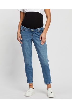 Topshop Maternity Tapered Mom Jeans - Tapered (Mid Denim) Maternity Tapered Mom Jeans
