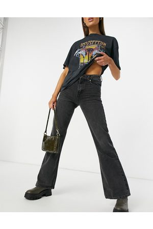 Topshop 90s flare jeans in wash black