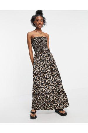Influence Women Printed Dresses - Bandeau beach maxi dress in leopard print-Multi
